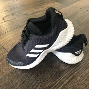 Adidas Black Sneakers Shoes Sports Active Running
